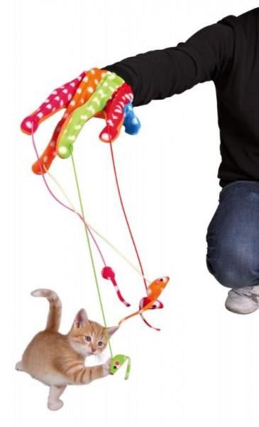 Handschuh mit 4 Mäusen am Gummiband