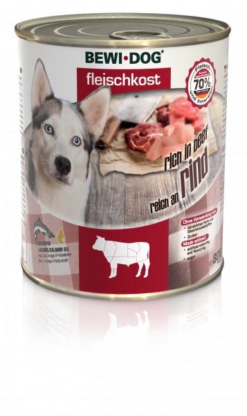 Bewi-Dog Fleischkost - Reich an Rind