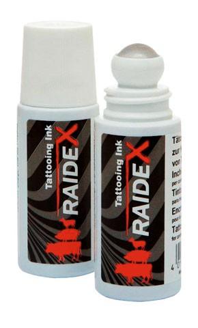 Tätowierfarbe Rollball RAIDEX schwarz