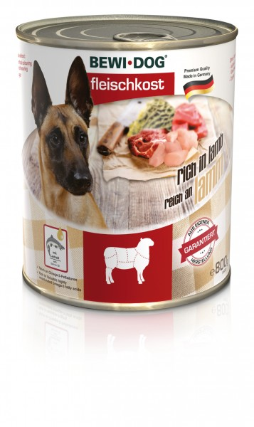 Bewi-Dog Fleischkost Reich an Lamm