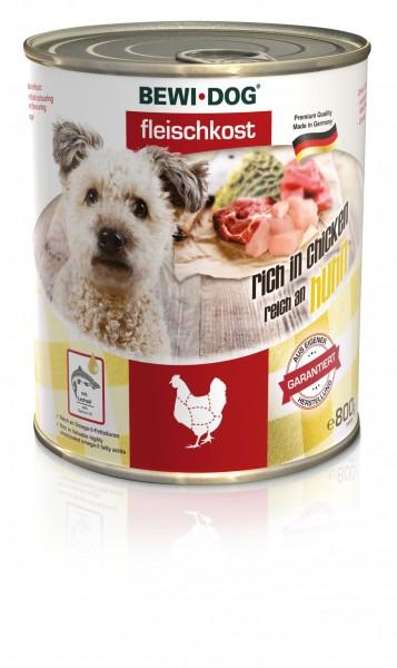 Bewi-Dog Fleischkost - Reich an Huhn