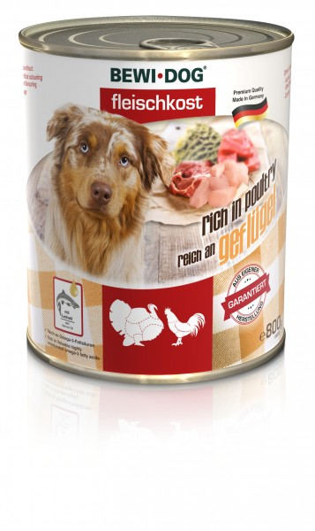 Bewi-Dog Fleischkost - Reich an Geflügel